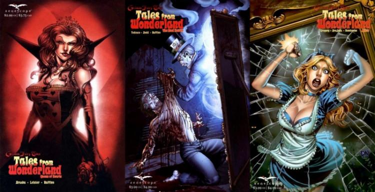 К циклу Zenescope Entertainment о Стране чудес примыкает несколько ответвлений о происхождении знаменитых персонажей